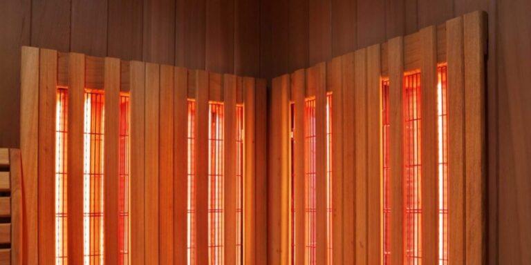 infrared panels inside sauna