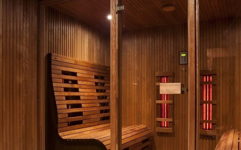 infrared sauna with infrared panels