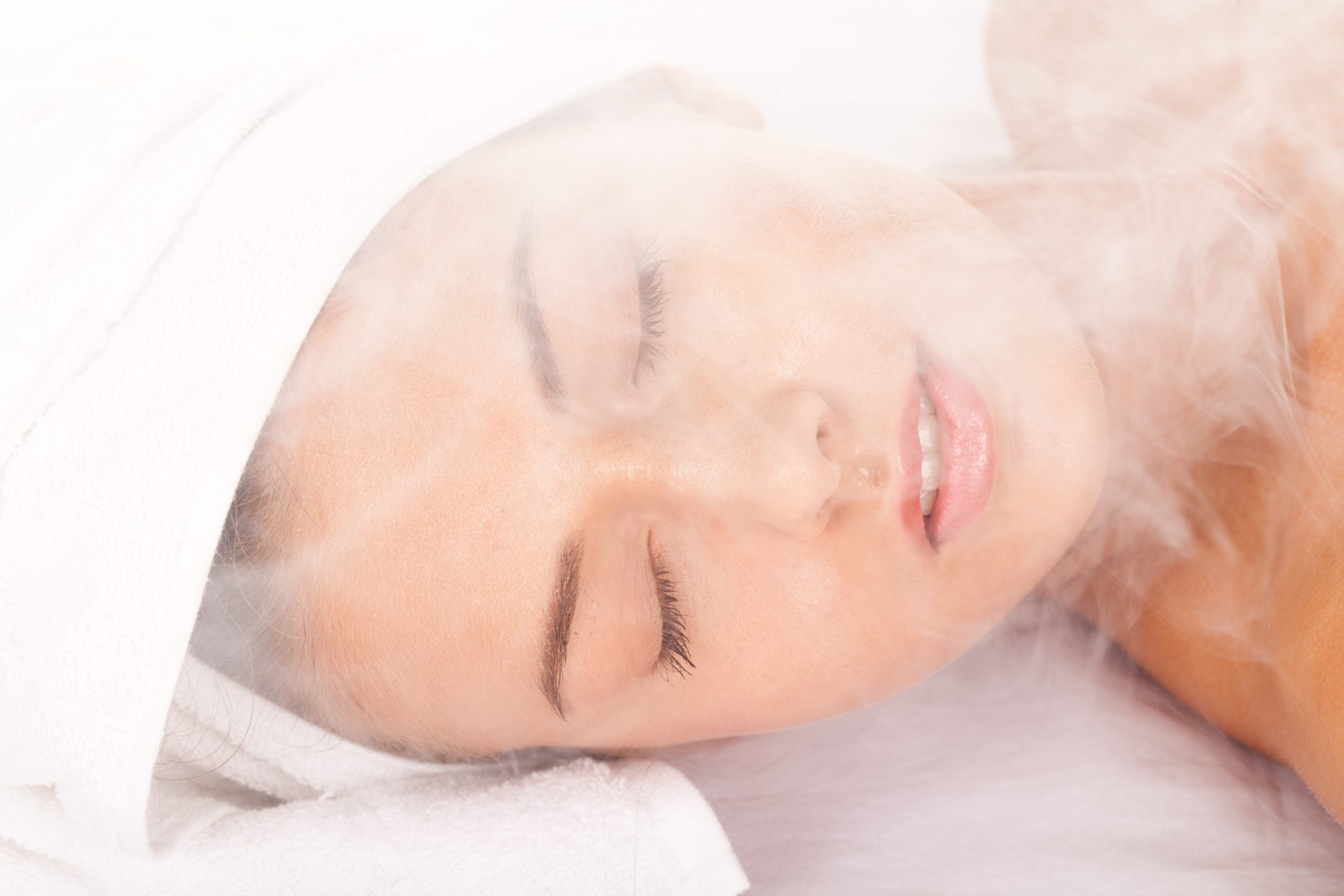 Woman with Sauna Steam